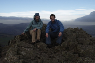 Ken and Dot atop Sugarloaf (O Cualann)