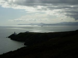 Looking South from Howth with Sugarloaf and Bray head visible in background