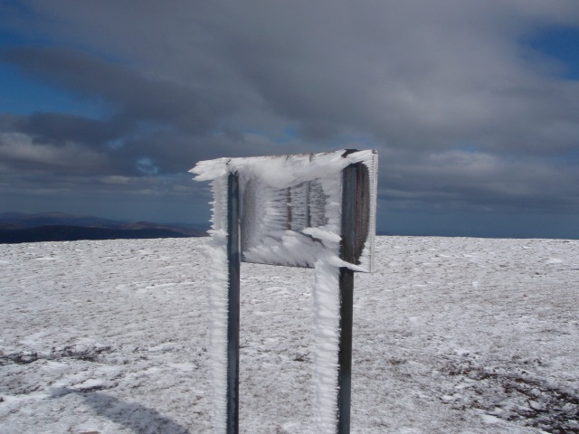 Sign in icy jacket