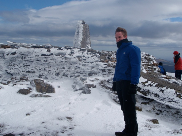 Pål Antonsen chilling out at the summit