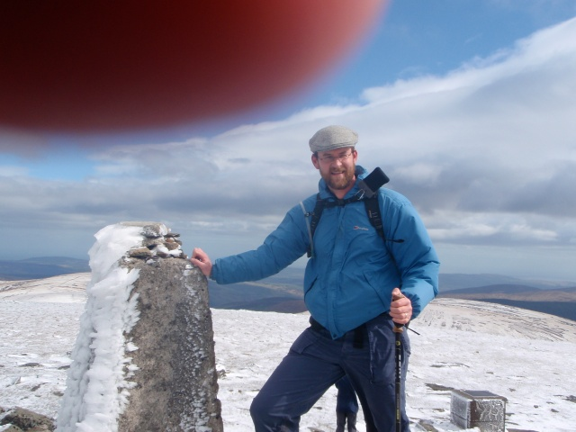 Ken at summit (note finger of God reaching to pat me on back –or press the button, I'm not sure)