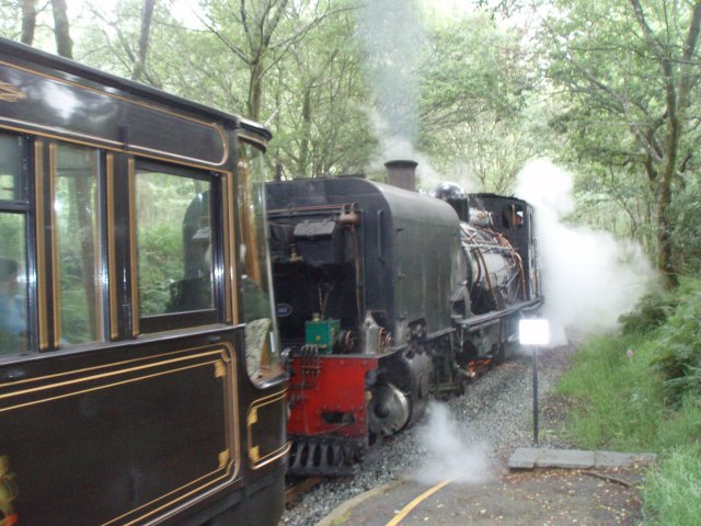 Choo choo! We caught this steam train back from Beddgelert to the campsite - the campsite actually has its own halt!