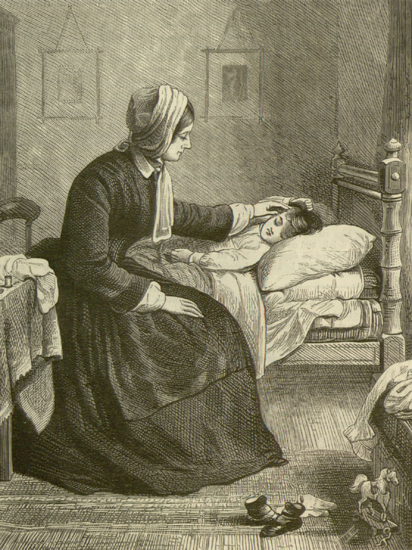 Mrs. Egerton watched by her child. illustration
